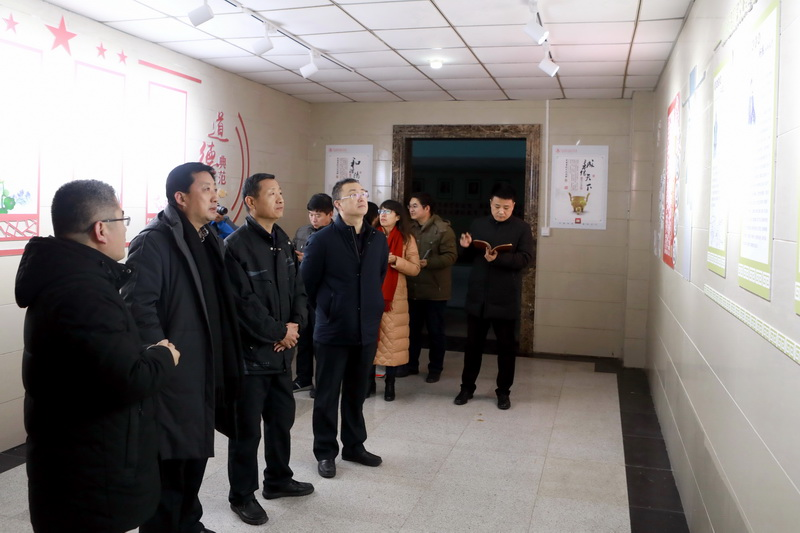 市纪委领导指导www.710.com廉洁文化长廊建设