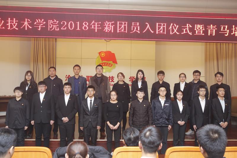 我院举行2018年新团员入团仪式暨青马培训